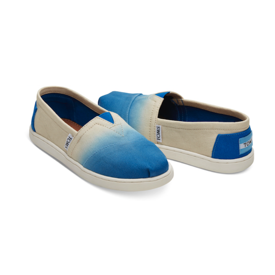TOMS Youth Cobalt Dip Dye