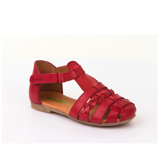 t-bar red sandal